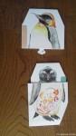 京都のイラストレーター=ドメチカ様から「ペーパーペンギンマトリョーシカ」カードでの誕生日祝をいただきました(^○^)!!